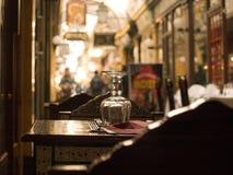 Sidewalk restaurant in Paris royalty free stock photos