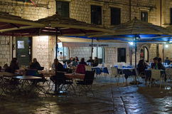 Sidewalk restaurants, Dubrovnik Royalty Free Stock Photos