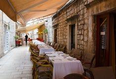 Sidewalk restaurants, Dubrovnik Royalty Free Stock Images