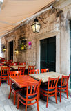 Sidewalk restaurants, Dubrovnik Stock Image