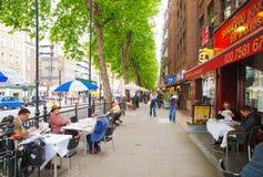 Sidewalk restaurants, London Royalty Free Stock Photo