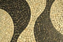 Sidewalk of Rio de Janeiro Stock Photos