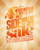 Sidewalk sale days design. Stock Photo