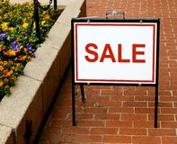 Sidewalk Sale Sign Royalty Free Stock Image