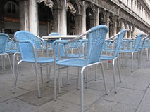 Sidewalk seating in Venice Royalty Free Stock Image