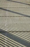 Sidewalk Shadow Patterns Royalty Free Stock Image