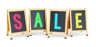 Sidewalk signs with SALE text Stock Image