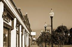 sidewalk small town vintage Στοκ εικόνες με δικαίωμα ελεύθερης χρήσης