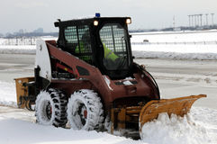 Sidewalk snowplow Royalty Free Stock Images