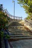 Sidewalk stairs in West Palm Beach, Florida. High resolution image Royalty Free Stock Images