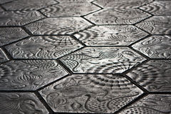 Sidewalk stones - Barcelona Royalty Free Stock Image