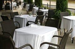 Sidewalk Tables Royalty Free Stock Photo