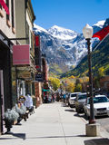 Sidewalk in Telluride Stock Photography