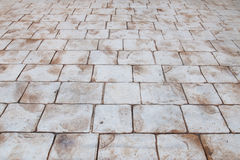 Sidewalk texture. Stone sidewalk texture with perspective Royalty Free Stock Photography