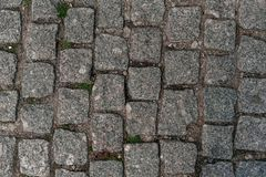 Sidewalk texture - photo paved path of stone royalty free stock photos