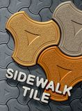 Sidewalk tile Stock Photography