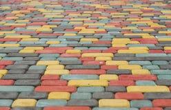Sidewalk tile brick Royalty Free Stock Photography