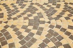 Sidewalk tile pattern Royalty Free Stock Photography