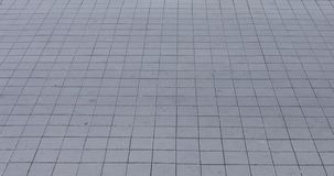 Sidewalk tiles cement concrete. 4K stock video