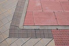 Sidewalk tiles. Sidewalk tile regular colors and geometric shapes Stock Photography