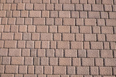 Sidewalk tiles. Sidewalk tile regular colors and geometric shapes Royalty Free Stock Photography