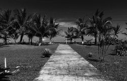Sidewalk to the beach royalty free stock image