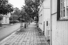 Sidewalk towards a boulevard Royalty Free Stock Image