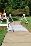 Sidewalk Under Construction Royalty Free Stock Photography