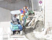 Sidewalk under construction stock photos