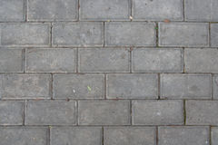 The sidewalk was paved with tiles Royalty Free Stock Photography
