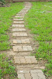 Sidewalks for pedestrians walk in public park Stock Photo