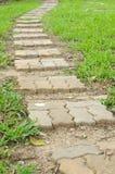 Sidewalks for pedestrians walk in public park Royalty Free Stock Photo