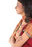 sidewards tonårs- facingflicka Royaltyfria Bilder