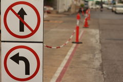 Sideway κυκλοφορία οδικών σημαδιών στοκ εικόνα με δικαίωμα ελεύθερης χρήσης