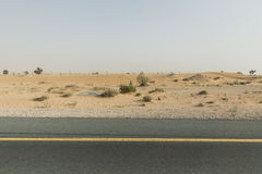 Sideway Desert. Going Outbound to The Great Desert of Dubai Stock Photos