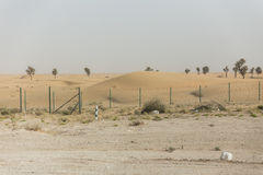 Sideway Desert. Going Outbound to The Great Desert of Dubai Stock Image