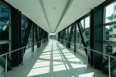 Sideway interiors public overpass Royalty Free Stock Images