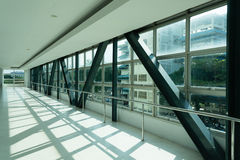 Sideway interiors public overpass. Abstract modern architecture design Sideway interiors public overpass Stock Photo