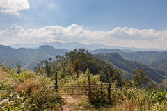 Sideway Landscape of The Road to Umphang. Mae Hong Son Province, Thailand royalty free stock photography