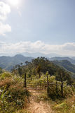 Sideway Landscape of The Road to Umphang. Mae Hong Son Province, Thailand Royalty Free Stock Images