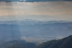 Sideway Landscape of The Road to Umphang. Mae Hong Son Province, Thailand stock images