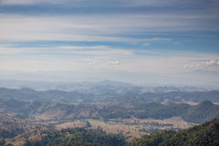 Sideway Landscape of Umphang in Tak Province, Thailand royalty free stock photo