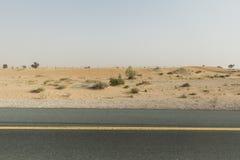 Sideway pustynia Iść Wyjeżdżające Wielka pustynia Dubaj Zdjęcia Stock