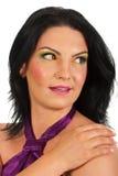 Sideway target696_0_ zadziwiająca kobieta Obraz Stock