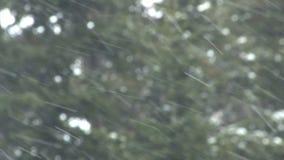 Sideways heavy snow stock footage