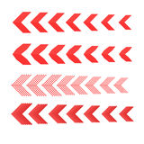 Sideways Set . Linear signs collection. Arrow Design .four elements for your design.Striped direction.  Royalty Free Stock Images