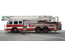 Sideways shot of a fire engine Royalty Free Stock Images