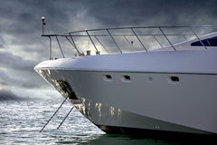 Sideways Yacht Stock Images