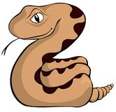 Sidewinder Rattler Cartoon. A cartoon looking sidewinder, which is a type of rattlesnake Stock Photo
