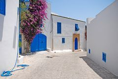 Sidi Bou besagt, Tunesien Stockfotos